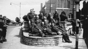 1940: Home at last - Just evacuated from the beaches of Dunkirk (Swindon men back at Regent Circus)