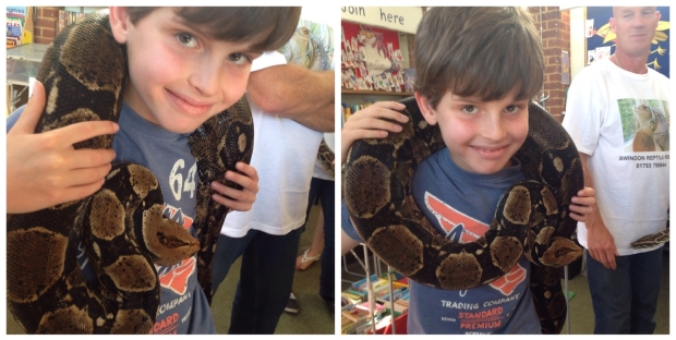 Charlie with snake