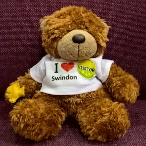 Photo of Oscar Swindon-Bear with visitor sticker
