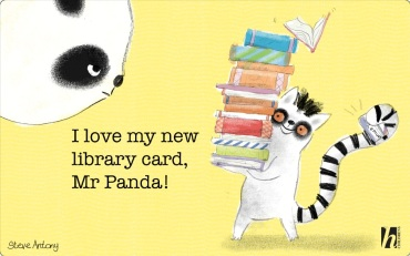 library card steve antony