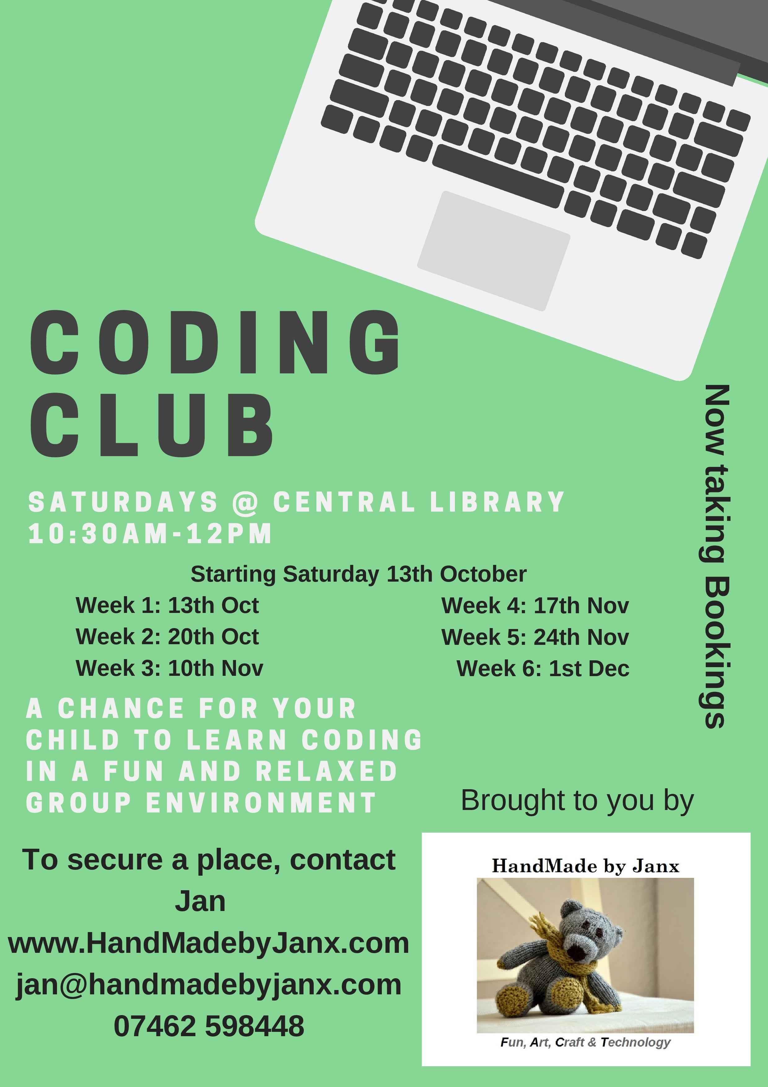 new coding club to launch at the central library swindon libraries